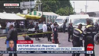 FOTO: Limpiaparabrisas muere atropellado en calzada Zaragoza, 14 de abril 2019