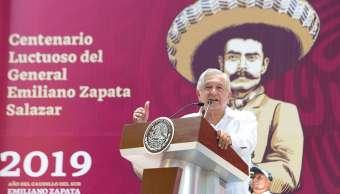 López Obrador rinde homenaje a Zapata en Cuernavaca