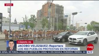 FOTO: Los 400 pueblos protestan en Reforma, 6 de abril 2019