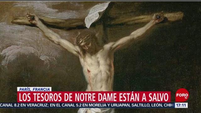 Foto: Los tesoros de Notre Dame están a salvo