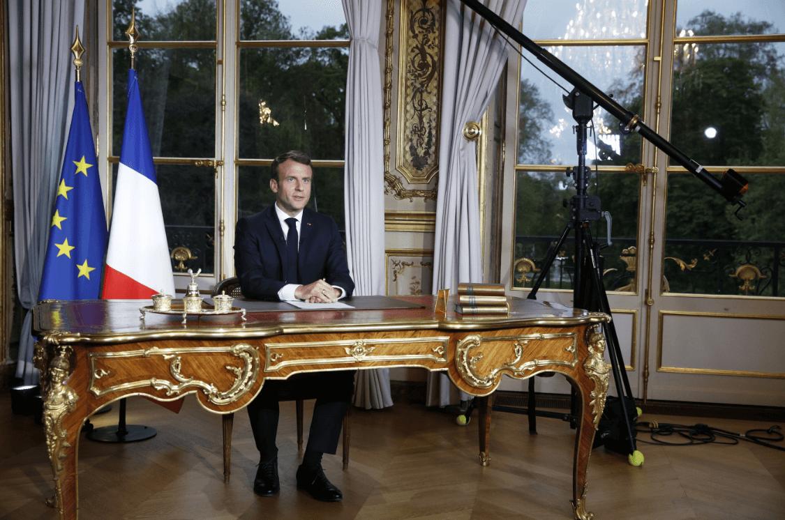Foto: Macron dirige un mensaje tras incendio en Notre Dame, 16 de abril de 2019, Francia