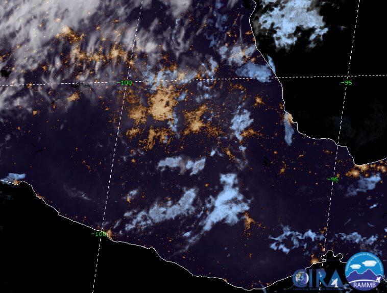 Foto: La imagen de satélite muestra cielo medio nublado a nublado en el Valle de México, 6 abril 2019