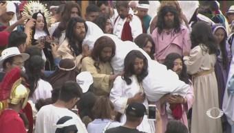 FOTO: Más de un millón de personas viven la pasión de Cristo en Iztapalapa, 19 ABRIL 2019