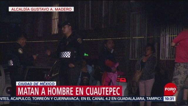 FOTO: Matan a joven en zona alta de Cuautepec, en la GAM, 27 ABRIL 2019