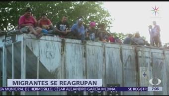 Migrantes abordan 'La Bestia' para salir de Chiapas