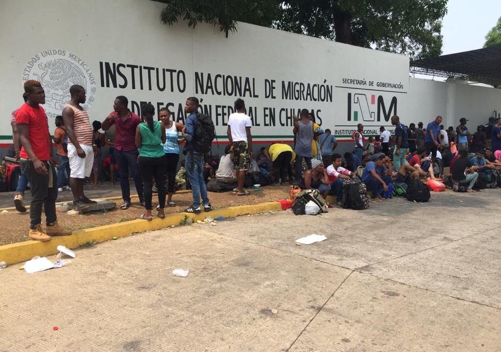 Foto: Llegan migrantes africanos y haitianos a Chiapas, 29 de abril 2019. Juan Álvarez Moreno