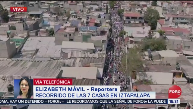 FOTO: Miles de asistentes a la Pasión de Cristo en Iztapalapa, 18 ABRIL 2019