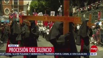 FOTO: Miles de creyentes asisten a la Procesión del Silencio en Puebla, 19 ABRIL 2019