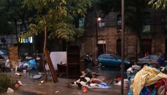 Foto Mujeres atrapadas en predio desalojado de colonia Roma niegan salir 29 abril 2019
