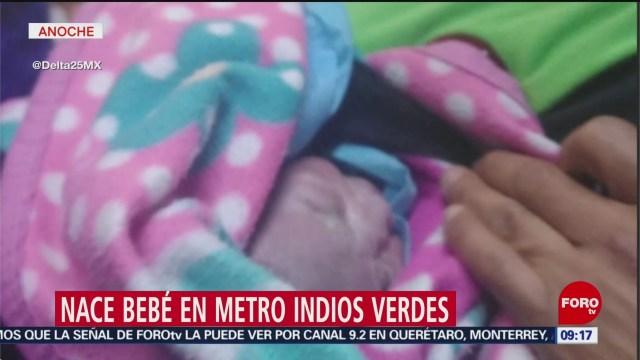 FOTO: Nace bebé en metro Indios Verdes, 21 ABRIL 2019