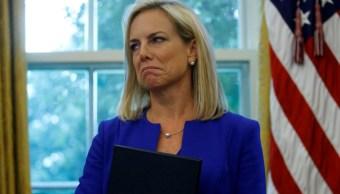 Foto: Kirstjen Nielsen, la secretaria de Seguridad Nacional de Estados Unidos, abril 7 de 2019 (Reuters)