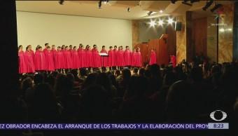 Niños Cantores de Morelia se presentan en Bellas Artes