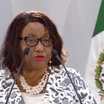 FOTO Directora de la OPS, Carissa Etienne, reconoce a AMLO por reformas a favor de salud universal (YouTube cdmx 9 abril 2019)