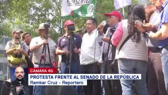 Organizaciones sindicales protestan contra la reforma laboral