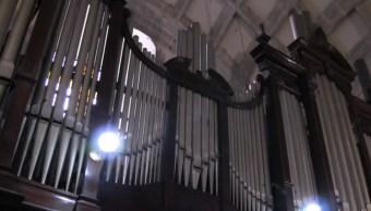 Órgano tubular de la catedral de Mérida, uno de los más antiguos de México