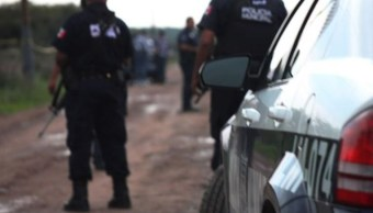 Fotografía que muestra a policías estatales, 24 abril 2019