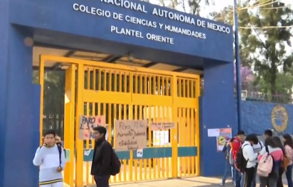 Paro de cuatro planteles del CCH y prepa de la UNAM, por abuso, violencia y salarios