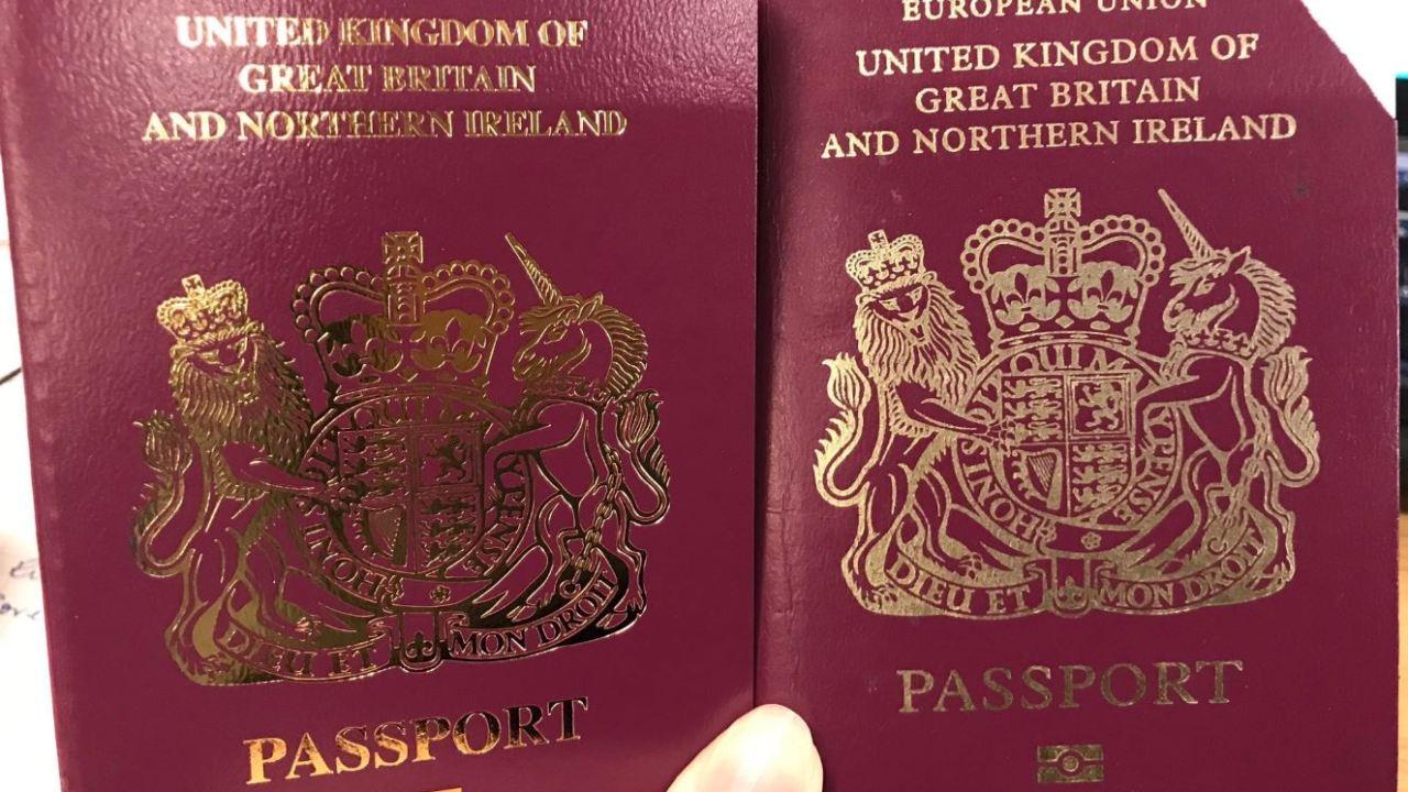 Foto: Reino Unido elimina la palabra Unión Europea de sus pasaportes, 6 abril 2019