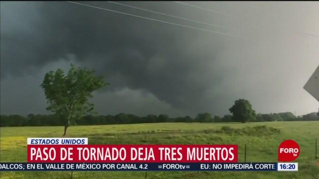 FOTO: Paso de tornado deja tres muertos en Estados Unidos, 14 de abril 2019