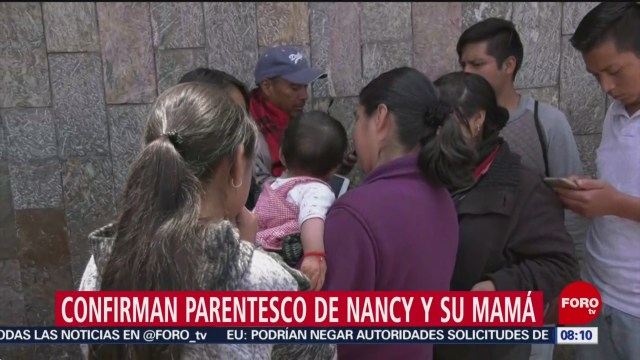 FOTO: PGJCDMX confirma parentesco entre madre y la bebé Nancy, 21 ABRIL 2019