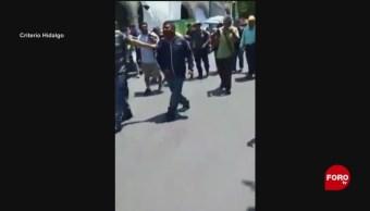 Foto: Pobladores de Ixmiquilpan golpean a presunto asaltante