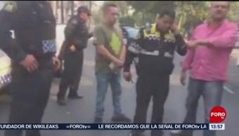 Foto: Policía atropella a una mujer y sus compañeros no lo detienen