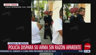 FOTO: Policía dispara su arma sin razón aparente en la colonia Peralvillo, CDMX, 20 ABRIL 2019