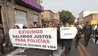 FOTO Policías de Michoacán protestan por mejores condiciones laborales (Noticieros Televisa 29 abril 2019)