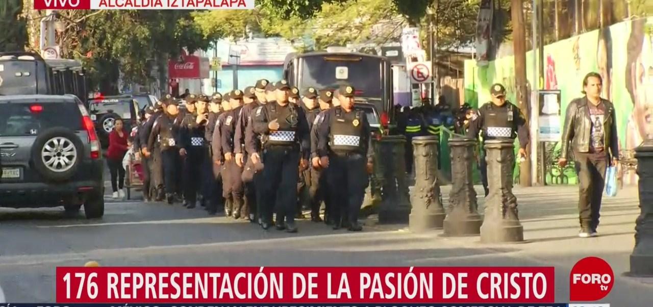 FOTO: Policías resguardarán escenificación de la Pasión de Cristo en Iztapalapa, 18 abril 2019