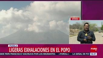 FOTO: Popocatépetl emite 77 exhalaciones en las últimas 24 horas, 19 ABRIL 2019