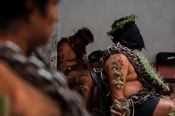 Foto: Procesión de los engrillados en Atlixco, Puebla, 30 de marzo de 2018, México