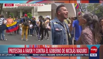 Foto: Protestas afuera de la embajada de Venezuela en México