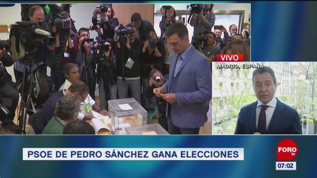 PSOE de Pedro Sánchez gana las elecciones en España