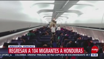 FOTO: Regresan a 104 migrantes a Honduras en Minatitlán, Veracruz, 27 ABRIL 2019