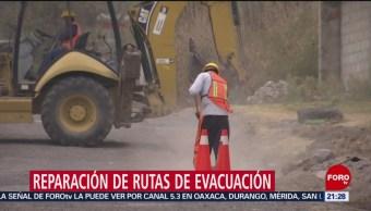 Foto: Reparan rutas de evacuación en comunidades cercanas al Popocatépetl