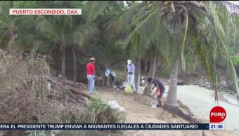 Foto: Retiran Basura Playas Oaxaca 12 de Abril 2019