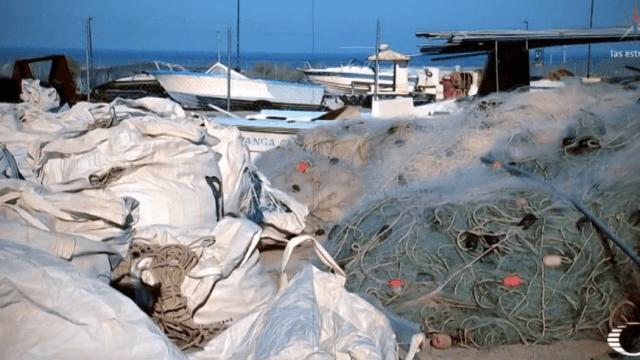 FOTO Roban redes de pesca de totoaba en San Felipe, durante disturbios (Noticieros Televisa cdmx 2 abril 2019)