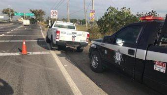 Foto: millonario robo a camión blindado en Querétaro, 11 abril 2019. Twitter @PlazaDeArmasQro