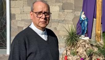 Foto: el sacerdote Ambrosio Arellano fue amarrado y torturado en su domicilio, 12 de abril 2019. Twitter Las Noticias Puebla @NTelevisaPuebla, vía @HECTOR_RANGELTV