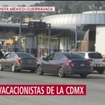 Salen vacacionistas de la CDMX por Semana Santa