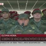 Se frenó intento de Golpe de Estado, confirma ministro de Defensa de Venezuela