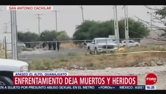 FOTO: Se registra enfrentamiento en Apaseo El Alto, Guanajuato, 6 de abril 2019