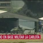 Se registra incendio en base militar La Carlota, en Venezuela