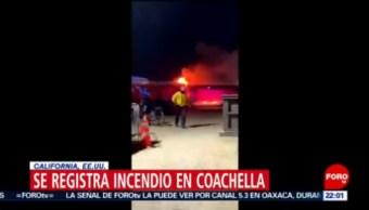 FOTO: Se registra incendio en Coachella, California, Estados Unidos, 13 de abril 2019