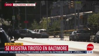 FOTO: Se registra tiroteo en Baltimore, Estados Unidos, 28 ABRIL 2019