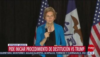 FOTO: Senadora demócrata pide juicio político contra Trump, 19 ABRIL 2019