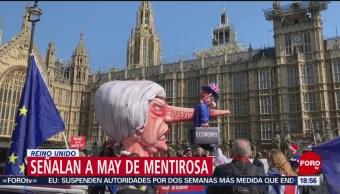 Foto: Señalan Theresa May Mentirosa Reino Unido 3 de Abril 2019