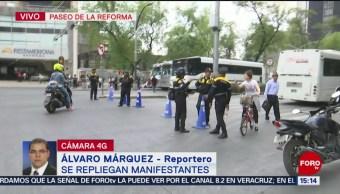 Foto: Sindicato de la Universidad de Chapingo cierra Reforma
