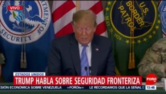 Sistema migratorio en frontera sur de EU está desbordado: Trump
