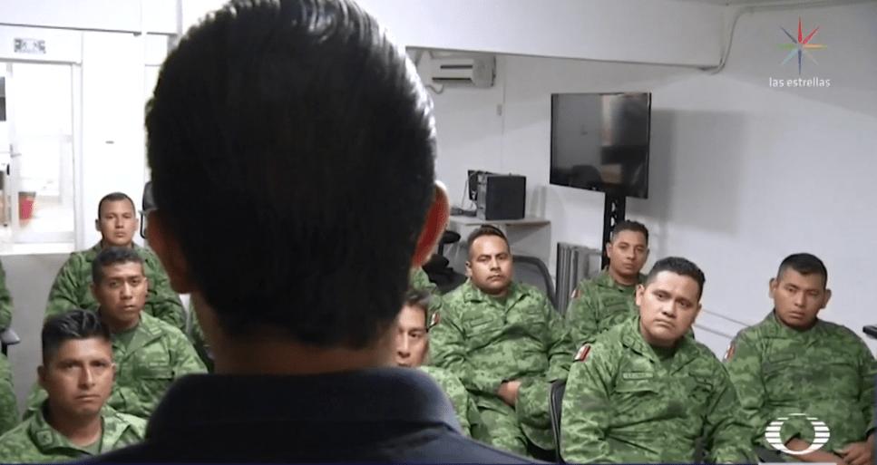 Foto: Soldados de Morelos reciben capacitación sobre socialización con la gente, marzo de 2019, Morelos, México